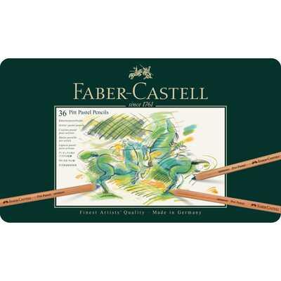 KREDKI PASTELOWE PITT FABER-CASTELL, 36 KOLORÓW