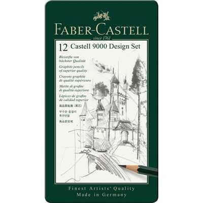 ZESTAW 12 OŁÓWKÓW CASTELL 9000 DESIGN FABER-CASTELL