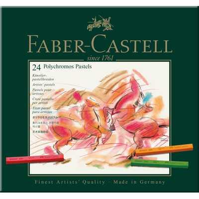 PASTELE SUCHE POLYCHROMOS FABER-CASTELL, 24 KOLORY