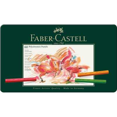 PASTELE SUCHE POLYCHROMOS FABER-CASTELL, 60 KOLORÓW