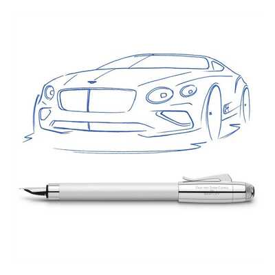 PIÓRO WIECZNE GRAF VON FABER CASTELL FOR BENTLEY, WHITE SATIN