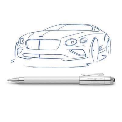 PIÓRO KULKOWE GRAF VON FABER-CASTELL FOR BENTLEY, WHITE SATIN