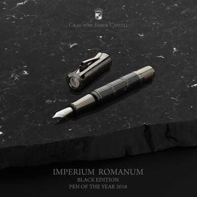 PIÓRO WIECZNE ROKU 2018: IMPERIUM ROMANUM BLACK EDITION GRAF VON FABER-CASTELL