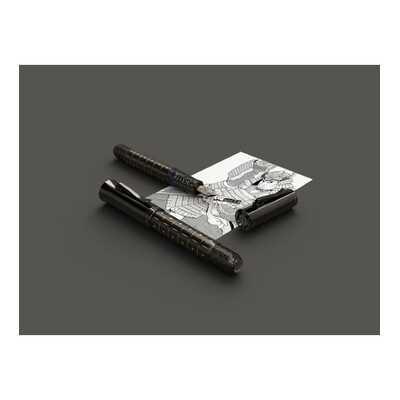 PIÓRO WIECZNE ROKU 2019: SAMURAJ BLACK EDITION GRAF VON FABER CASTELL, STALÓWKA M