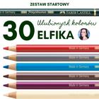 ZESTAW STARTOWY ELFIKA: 30 ULUBIONYCH KOLORÓW KREDEK POLYCHROMOS