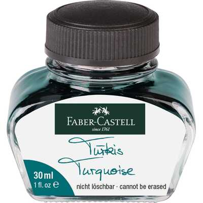ATRAMENT FABER-CASTELL 30 ML, TURKUSOWY