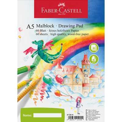 Blok do rysowania A5 FABER-CASTELL 80 g/m2, 60 kartek