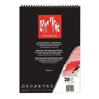 Blok do rysowania Caran d'Ache, A3, 20 stron, 220 g