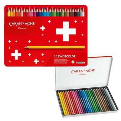 Kredki akwarelowe Swisscolor Caran d'Ache, 30 kolorów