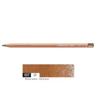 Kredka Caran d'Ache Luminance 6901, 037 Brown Ochre - Brązowa Ochra