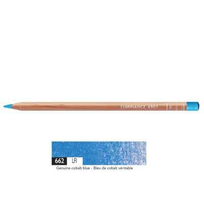 Kredka Caran d'Ache Luminance 6901, 662 Genuine Cobalt Blue - Kobaltowo-Niebieska