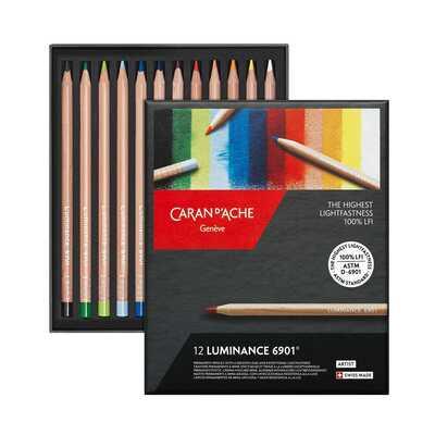 Kredki Caran d'Ache Luminance 6901, 12 kolorów