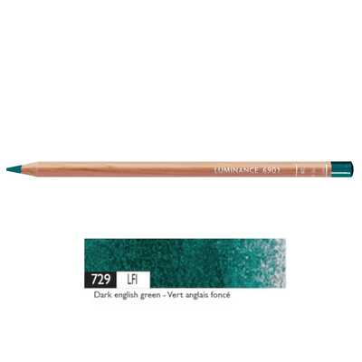 Kredka Caran d'Ache Luminance 6901, 729 Dark English Green - Ciemna Angielska Zieleń