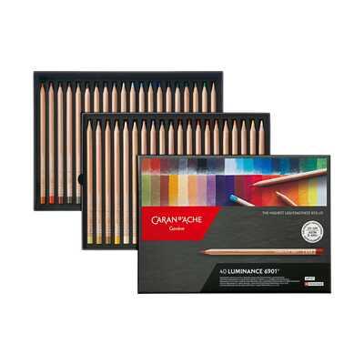 Kredki Caran d'Ache Luminance 6901, 40 kolorów