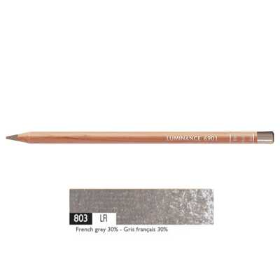 Kredka Caran d'Ache Luminance 6901, 803 French Grey 30% - Francuska Szarość 30%