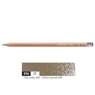 Kredka Caran d'Ache Luminance 6901, 846 Raw Umber 50% - Czysta Umbra 50%