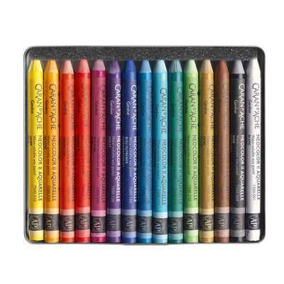 Pastele woskowe, akwarelowe Neocolor II Caran d'Ache, 15 kolorów