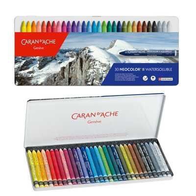 Pastele woskowe, akwarelowe Neocolor II Caran d'Ache, 30 kolorów