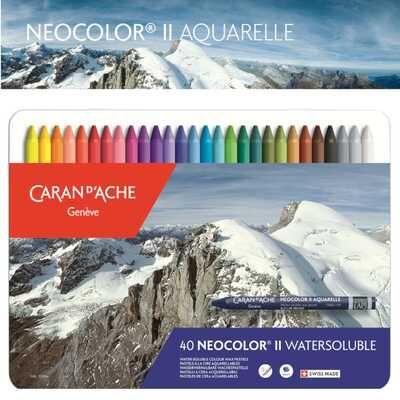 Pastele woskowe Neocolor II Caran d'Ache, 40 kolorów