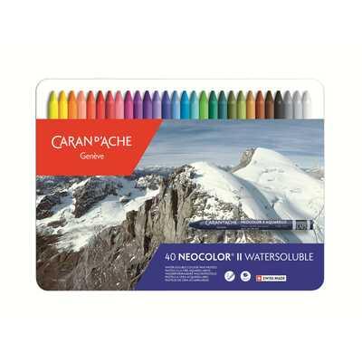 Pastele woskowe, akwarelowe Neocolor II Caran d'Ache, 40 kolorów
