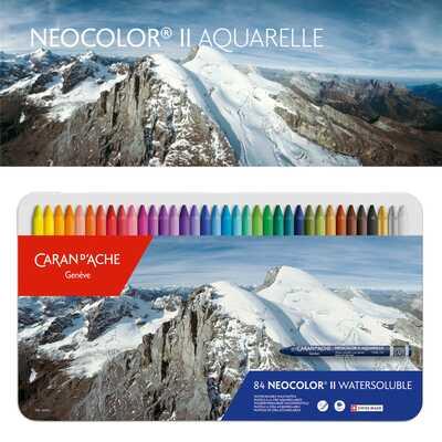 Pastele woskowe Neocolor II Caran d'Ache, 84 kolory