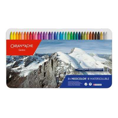 Pastele woskowe, akwarelowe Neocolor II Caran d'Ache, 84 kolory