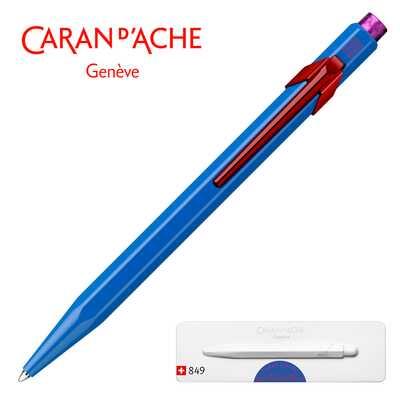 Długopis 849 Caran d'Ache Claim Your Style #2, kolor Cobalt Blue