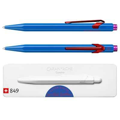 Długopis Caran d'Ache 849 Claim Your Style #2, kolor Cobalt Blue