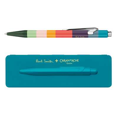 Długopis 849 Caran d'Ache Paul Smith Edycja #3, kolor Peacock Blue