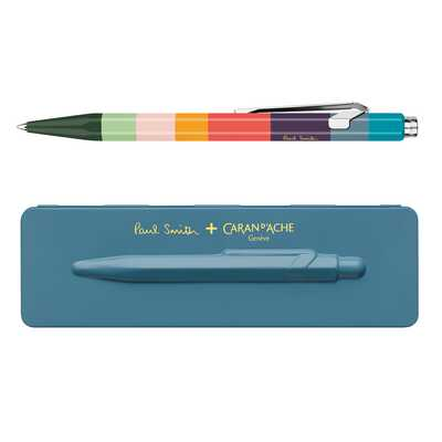 Długopis 849 Caran d'Ache Paul Smith Edycja #3, kolor Petrol Blue