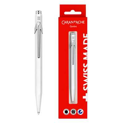 Długopis Caran d'Ache 849 Gift Box, biały