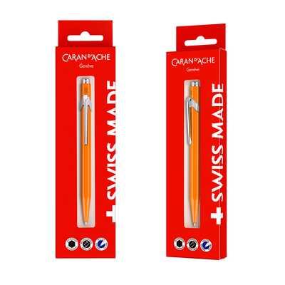 Długopis Caran d'Ache 849 Gift Box, pomarańczowy
