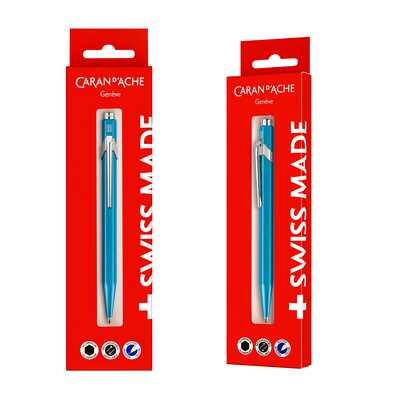 Długopis Caran d'Ache 849 Gift Box, turkusowy