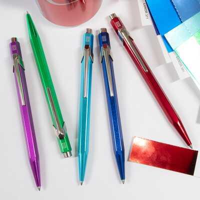 Długopis Caran d'Ache 849 Metal-X Line, niebieski