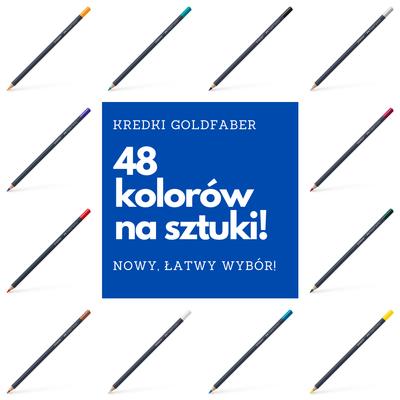 KREDKI GOLDFABER FABER-CASTELL NA SZTUKI - 48 KOLORÓW