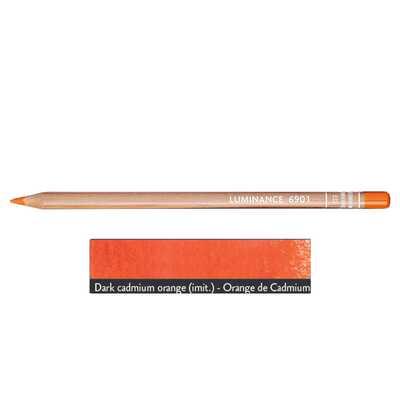 Kredka Caran d'Ache Luminance 6901, 533 Dark Cadmium Orange - Ciemny Kadm Pomarańczowy