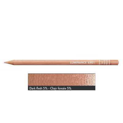 Kredka Caran d'Ache Luminance 6901, 741 Dark Flesh 5% - Ciemny Cielisty 5%
