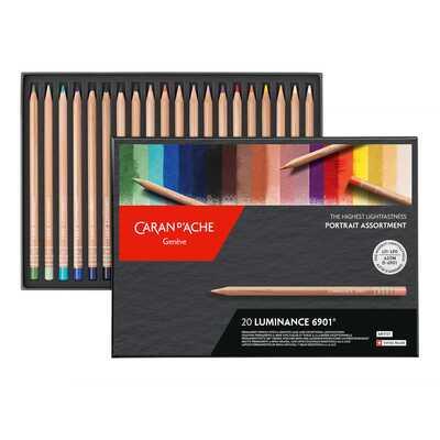 Kredki Caran d'Ache Luminance 6901, 20 kolorów - zestaw portretowy