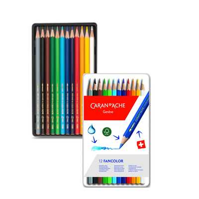 Kredki Fancolor Caran d'Ache, 12 kolorów