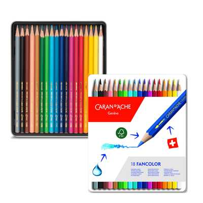 Kredki Fancolor Caran d'Ache, 18 kolorów