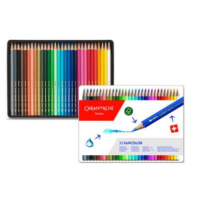 Kredki Fancolor Caran d'Ache, 30 kolorów