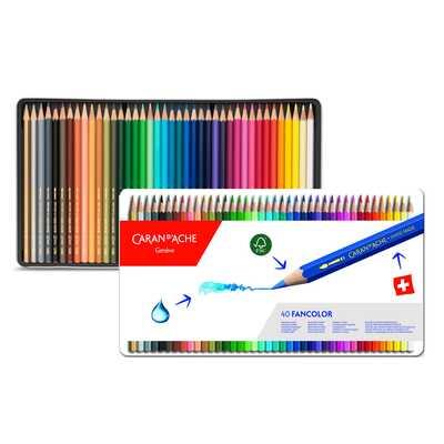 Kredki Fancolor Caran d'Ache, 40 kolorów