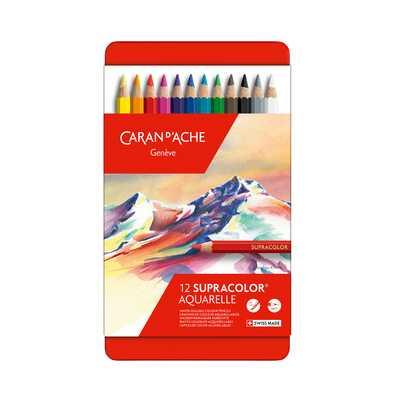Kredki Supracolor Soft Caran d'Ache, 12 kolorów