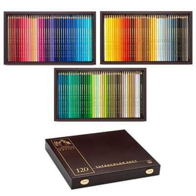 Kredki Supracolor Soft Caran d'Ache, 120 kolorów w drewnianej kasecie