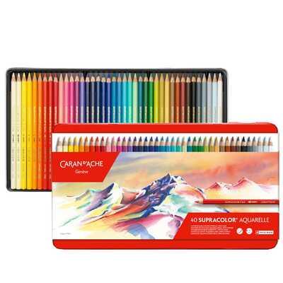 Kredki Supracolor Soft Caran d'Ache, 40 kolorów
