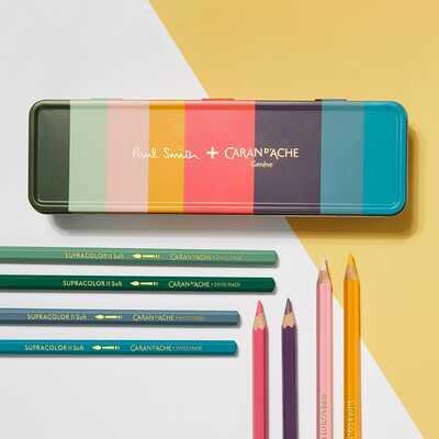 Kredki Supracolor Soft Caran d'Ache, 8 kolorów w limitowanej kolekcji Paul Smith