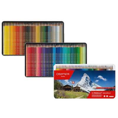 Kredki akwarelowe Prismalo Aquarelle Caran d'Ache, 80 kolorów