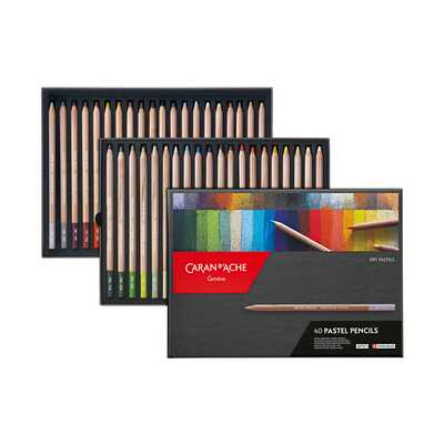 Kredki pastelowe Pastel Pencils Caran d'Ache, 40 kolorów