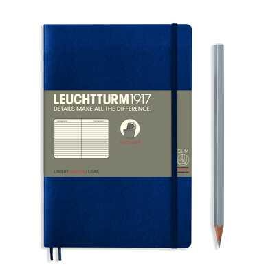NOTATNIK LEUCHTTURM1917 PAPERBACK B6+, MIĘKKA OPRAWA, GRANATOWY