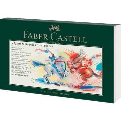 PIÓRNIK NA KREDKI, OŁÓWKI ART&GRAPHIC FABER-CASTELL, 36 MIEJSC